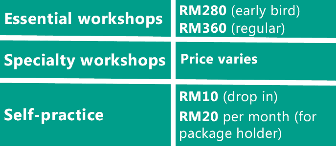 Workshop fees